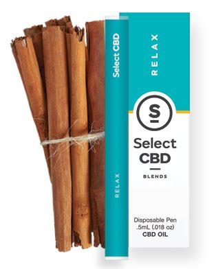 CBD製品紹介:Cura Select Blends CBD Vape Pen シナモン